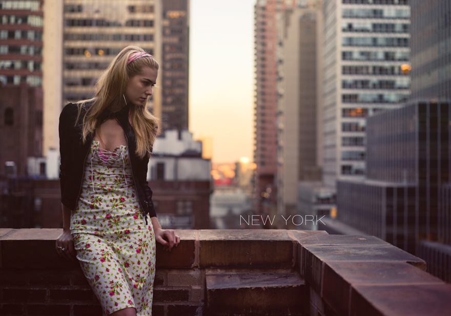 Girl on top of Roger Smith Hotel in New York City
